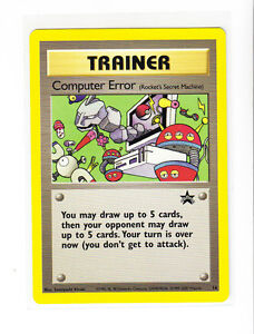 trainer computer error pokemon black star promo card 16 mint ebay