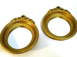 Vintage-Home-Interiors-Gold-Oval-Wall-Mirrors-Set-of-Two-Victorian-Regency-8-5-034