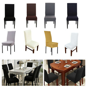 Details About Spandex Lycra Short Style Dining Chair Cover Stretch Slipcover For Wedding Party