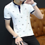 en-039-s-Slim-Fit-Short-Sleeve-Cotton-Shirt-T-shirt-Casual-Tops-Blous thumbnail 11