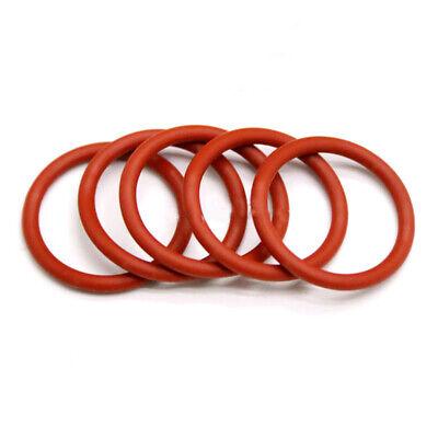 2.4mm White Rubber O Ring Seal Plumbing Garage HIGH TEMP Food Grade AD=8~30mm