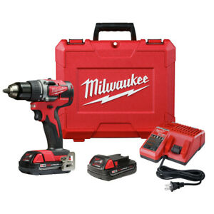 Milwaukee-2801-82CT-M18-Li-Ion-Compact-1-2-in-Drill-Driver-Kit-2-Ah-Recon