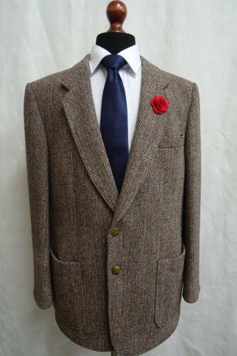 Brown Blazer Tweed Harris Vintage Herringbone 42r Eb448 Jacket Men's TF5qfzwU