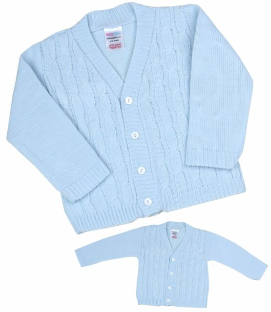 42380f047613 BabyPrem Baby Clothes Boys Traditional Knitted Blue Cable Cardigan ...