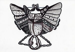 Scarab-Stylization-original-egyptian-drawing-insect-graphics-painting-egypt