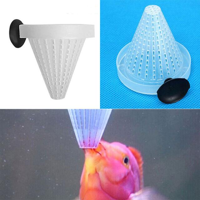 2Pcs Aquarium Basket Feeder Fish Food Live Worm Bloodworm Cone Feed s-