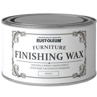 Rust Oleum Chalky Furniture Wax Shabby Chic 400ml White Liming Wax