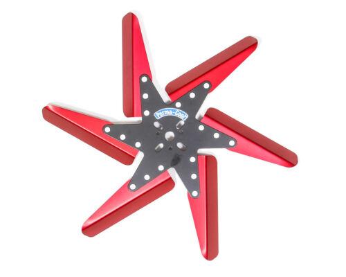 PERMA-COOL 83182 Flex Fan Aluminum 18in Black Center//Red Blades