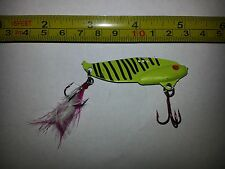 Custom Sonar Style Blade Bait Fishing Lure 2.5 in long 1/2oz bleeding red hook