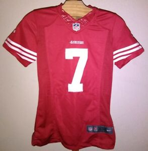 new style 12958 a15c5 Details about Nike 49ers Colin Kaepernick Jersey Youth Medium Authentic  Sewn ON FIELD Red