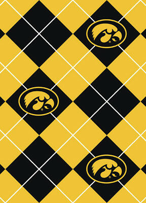 Cotton University of Iowa Hawkeyes College Team Sports Cotton Fabric Print By the Yard