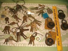 Large Mixed Lot of Vintage Locks Keys .. Cars Padlock house.. Craft Steampunk