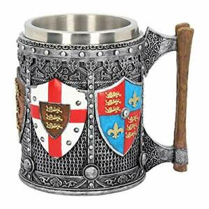 Medieval-Coat-Of-Arms-English-Heraldry-Tankard-Mug-Collectibe
