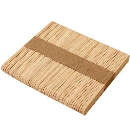100Pcs Natural DIY Craft Wooden Hygienic Ice Cream Popsicle Sticks 114x10x2 mm