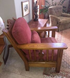 Image Is Loading Carved Mission Style Lodge Chair Mary Emmerling American