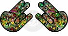 2x STICKER BOMB SHOCKER Funny Car,Window,Bumper DRIFT JDM Vinyl Decal Vw Rasta