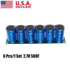 6pcs Electric Farad Capacitor 27v 500f Super Capacitance With Protection Board