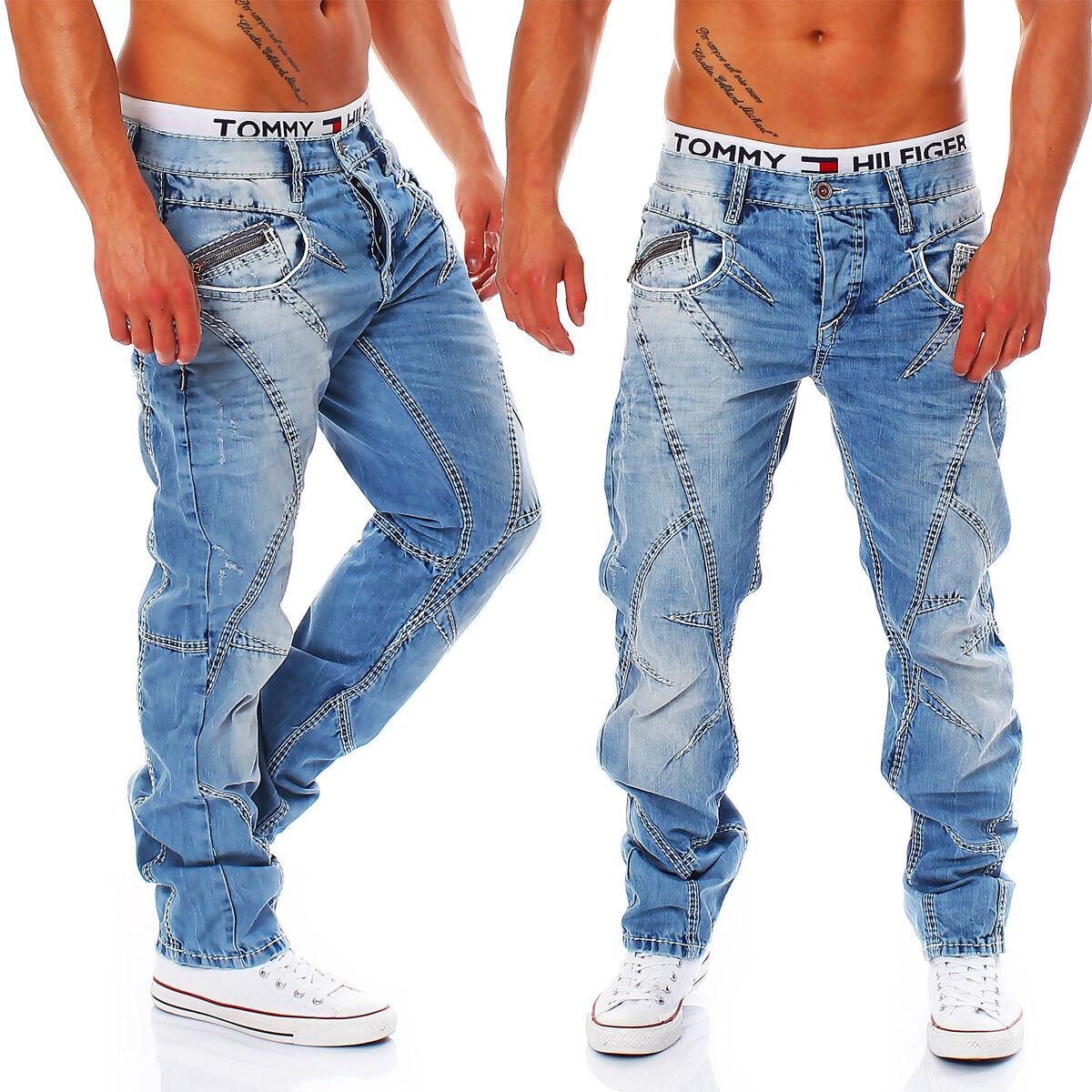 Cipo & Baxx-c-0894-a - Regular Fit-Spessore Cuciture-Men Uomo Jeans