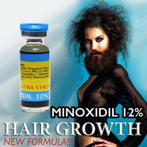 Details about STRONG FAST hair loss grow men minoxidil 12 re growth  treatment serum beard oil