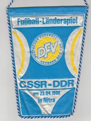 Orig.wimpel Int.freundschaftsspiel 23.04.1986 Cssr - Ddr !! Sehr Selten