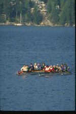 155004 Outrigger Canoes Vancouver BC A4 Photo Print