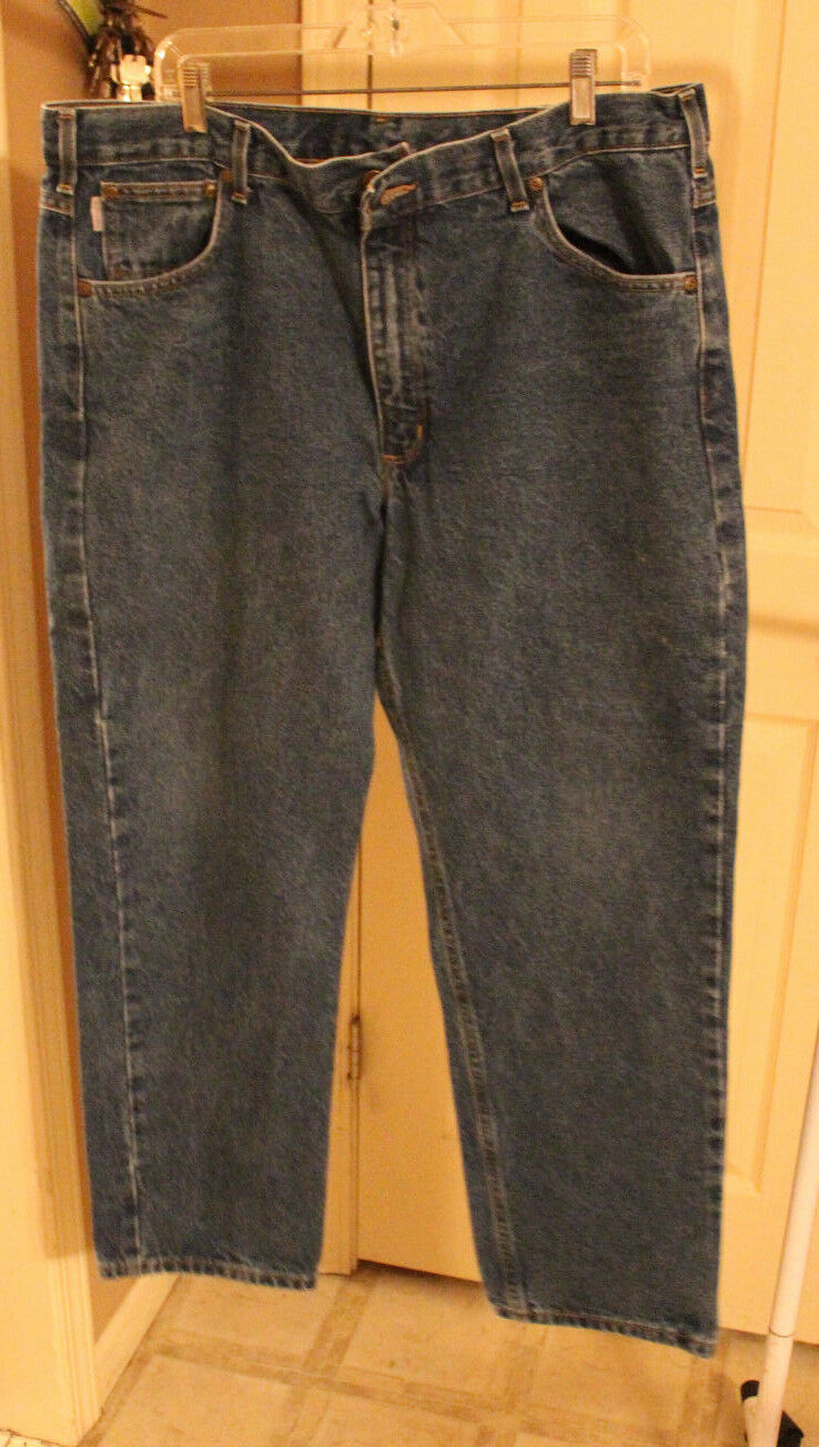 Carhartt MENS bluee Traditional Fit Jeans Pants B18 DST 40 x 30
