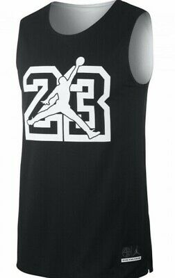 New Nike Air Jordan He Got Game Reversible Mesh Jersey Ar1257-010 Black Matching In Colour Men's Clothing Activewear