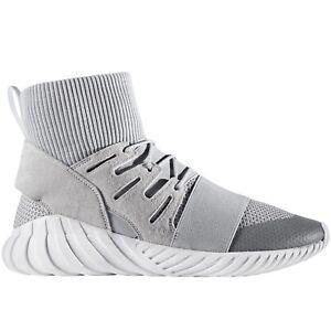 Adidas-Originaux-Hommes-Tubulaire-Destin-Decontracte-Hiver-Slip-Baskets-Gris