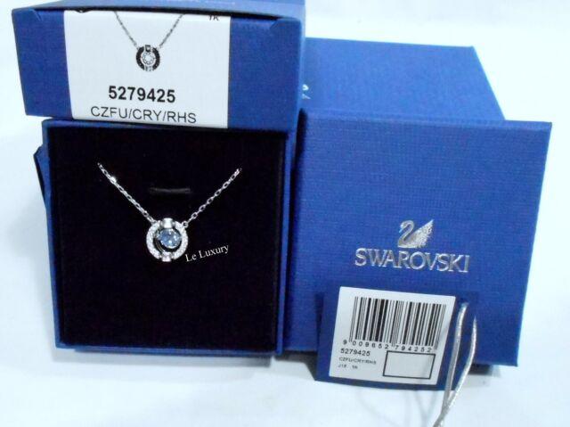 SWAROVSKI Sparkling danse ronde collier, bleu 3D Cage Cristal Authentique 5279425