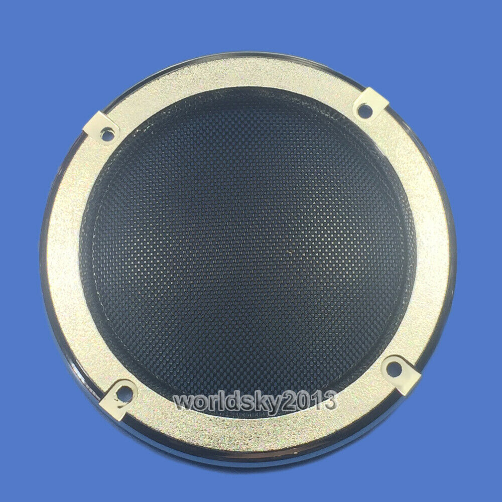 "2pcs 6.5/"" inch Audio Speaker Cover Decorative Circle Metal Mesh Grille #Silver3"