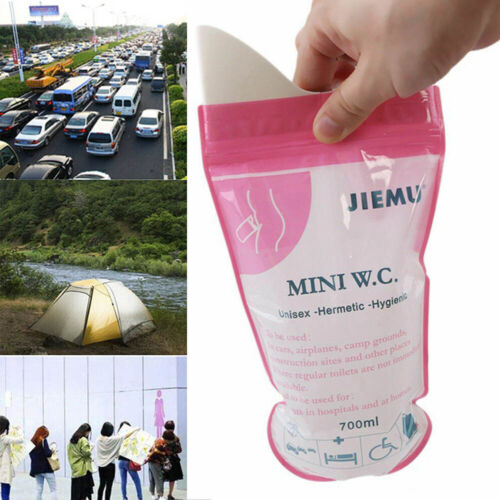 New 16X Disposable Urinal Wee Pee Urine Bags Camping Travel Driving Emergency