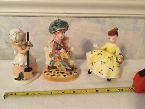 3 Vintage  Porcelain Figurines Made In Japan. Nice