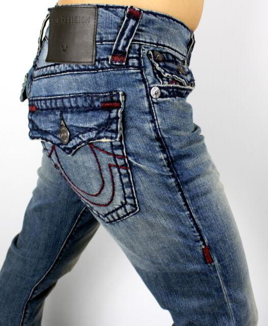 2d7653b6f True Religion Sz32 Geno Slim W flap Super T Stretch-jeans Monsoon ...