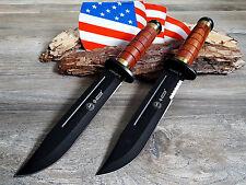 2 MESSER JAGDMESSER BOWIE KNIFE HUNTING CUCHILLO COLTELLO BUSCHMESSER KANDAR