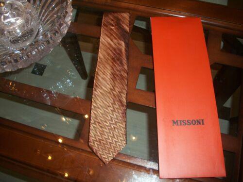 navy silk neck tie 25 Made in Italy $125 Macy/'s nwt MISSONI orange