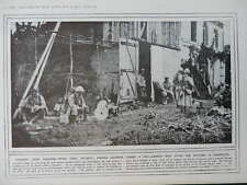 1915 EARLY FRENCH STEEL HELMETS; GERMAN PRISONERS WWI WW1