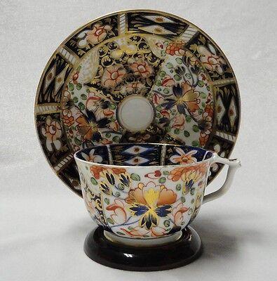 Antique IMARI Royal Crown  2451 DERBY PORCELAIN 1800s Marks TEA CUP & SAUCER SET