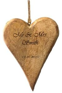 ... -Engraved-Wood-Heart-Shaped-Plaque-Personalized-Wooden-Wedding-Gift