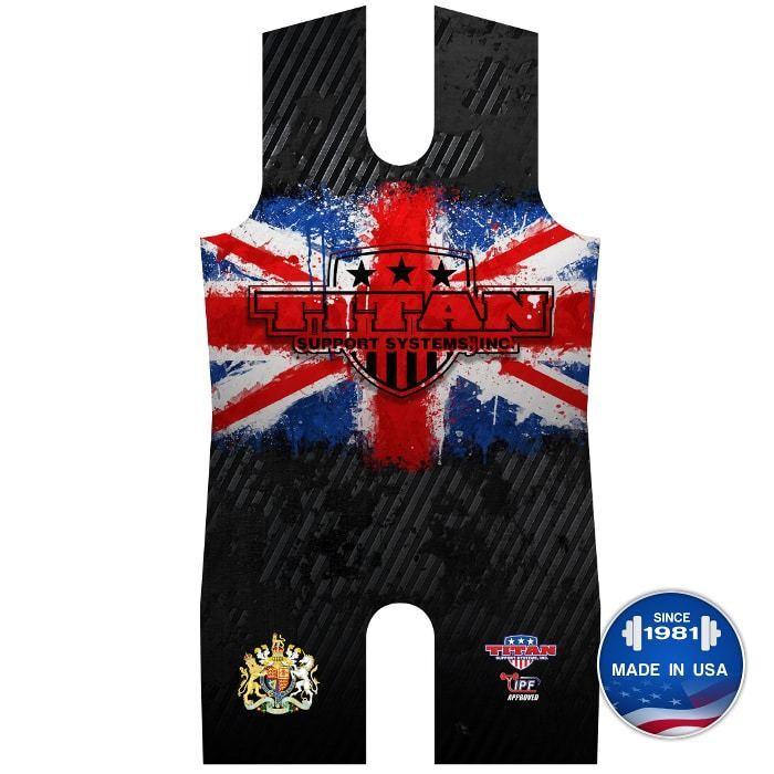 Titan Triumph United Kingdom Powerlifting Singlet IPF Legal UK singlet