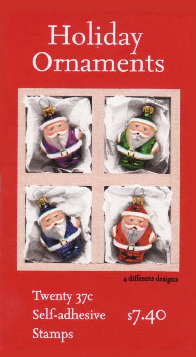2004 37c Christmas Greetings, Ornaments, Booklet of 20