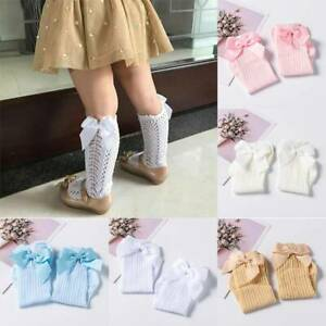 0-4-Years-Kids-Girls-Socks-Baby-Toddler-Knee-High-Long-Bow-Cotton-Stockings-Size