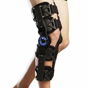Post Op Knee Brace Adjustable Flexion Extension Hinged