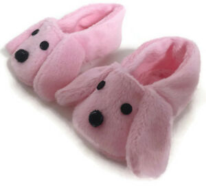 Pink Puppy Dog Slipper Shoes made for 18 inch American Girl Dolls Accessories