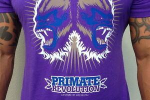Boxing Gorilla BJJ Primate Revolution Brand T-Shirt Meerkatsu design MMA