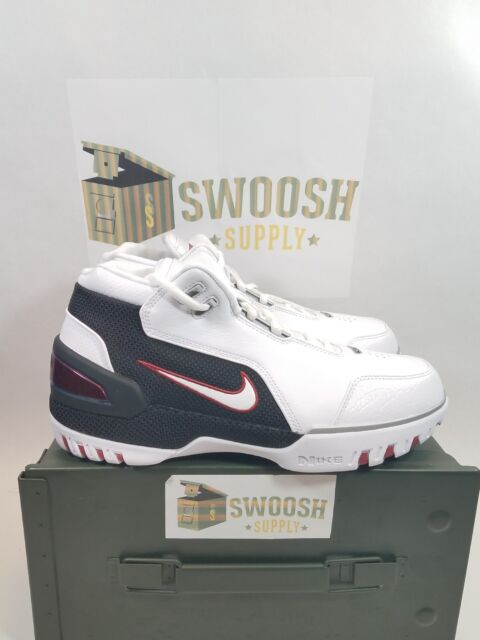 93eed55db79 NIKE AIR ZOOM GENERATION QS AJ4204-101 LEBRON JAMES FIRST GAME WHITE DS SZ  7.5