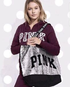 2654d5a4cd Victoria s Secret Pink VS BLACK FRIDAY 2018 Bling Sequin Tote Bag ...