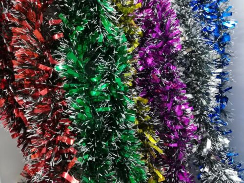 Guirlandes Décorations pour arbres de Noël Tag Garland 2 M x90mm variété de couleurs