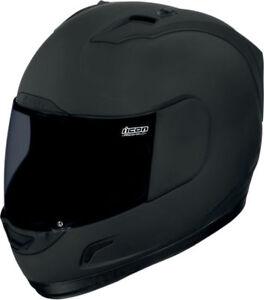ICON-Alliance-Dark-Motorcycle-Helmet-Rubatone-Flat-Black-Choose-Size