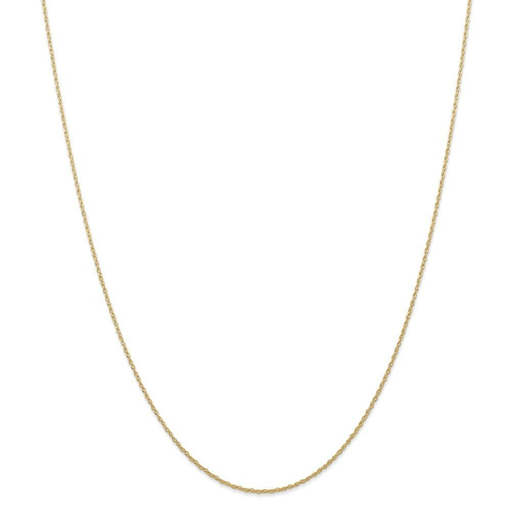 14kt Yellow gold .7 mm Carded Cable Rope Chain; 24 inch