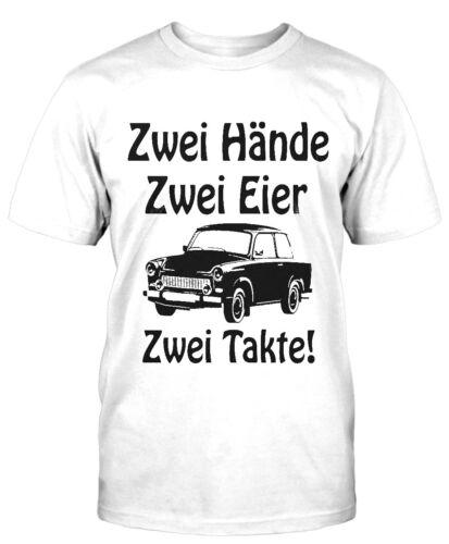 Hände Eier Trabbi T-Shirt Fun Moped DDR Herrentag Sprüche Simson Trabant Ossi